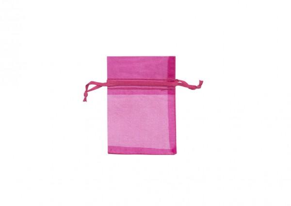 Organzasäckchen pink L