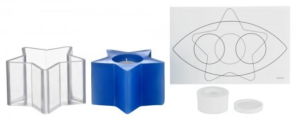 Fünfstern D 136 mm H 80 mm Kerzengießform für Teelichteinsatz