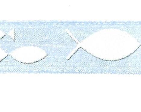 Chiffonband Fische altblau