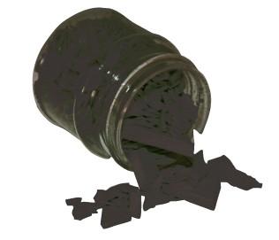 Wachsfarbpigment-Konzentrat schwarz