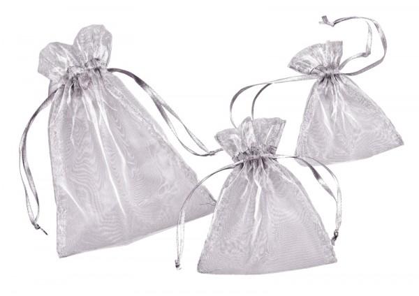 Organza-Säckchen silber L