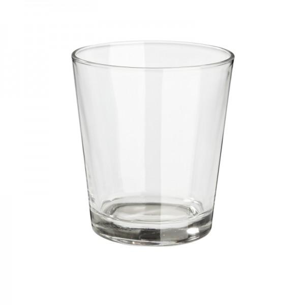 Deko Teelichtglas 10x6,5x9cm