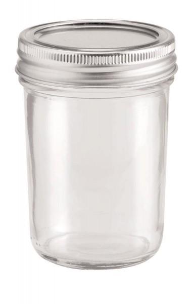 Glas mit 2-tlg Deckel 200 ml