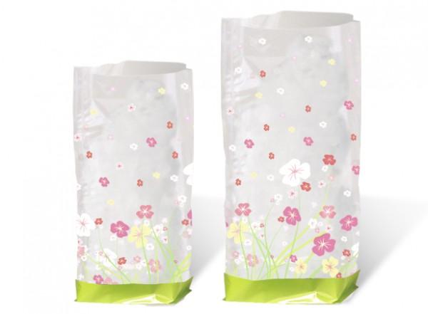 Geschenk-Bodenbeutel Blumen gross