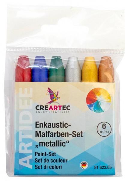 Enkaustic-Malfarben-Set metallisch