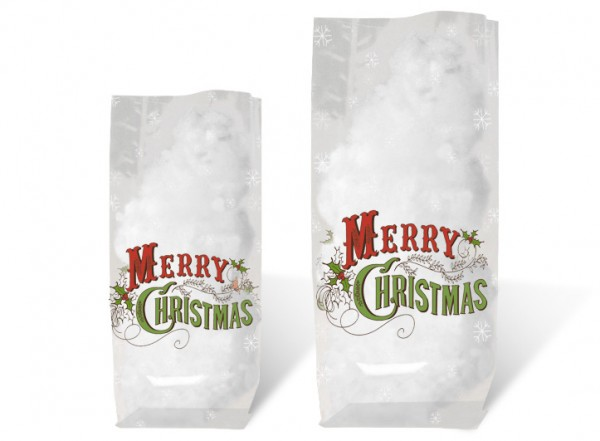 Geschenk-Bodenbeutel Merry Christmas klein