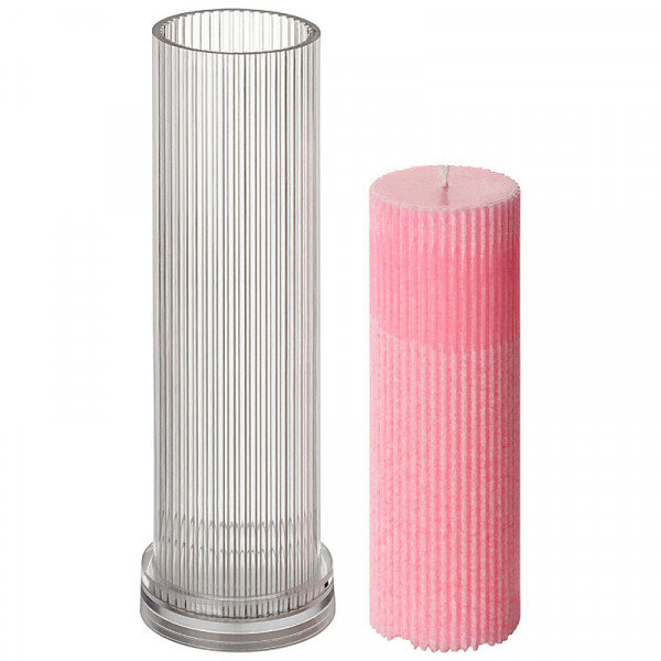 Rillen-Zylinder D 60mm H 228mm Kerzengießform