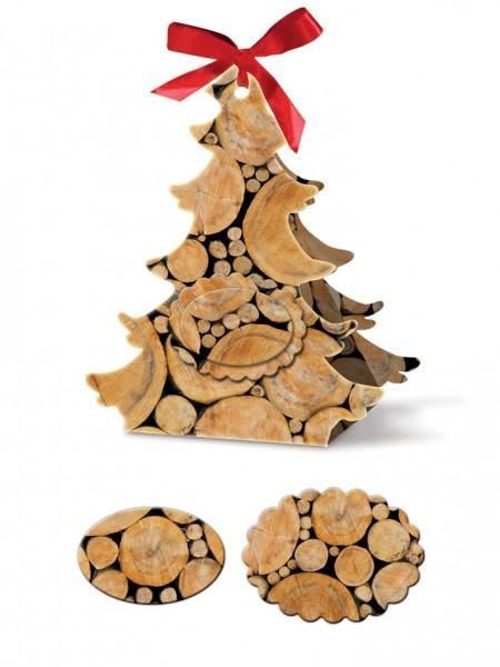Geschenkschachtel Tannenbaum Holz