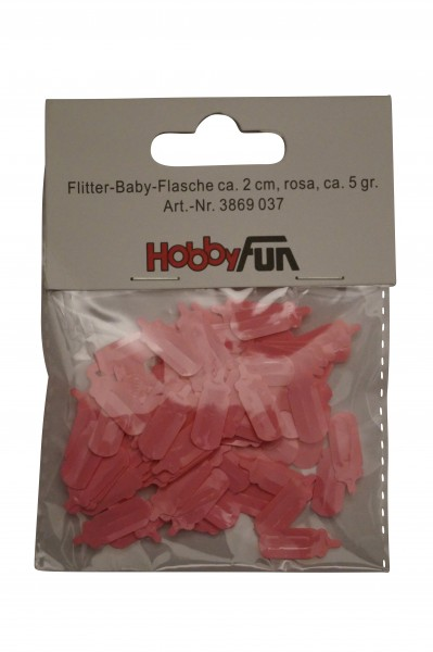 Ballon Flitter-Baby-Flasche rosa