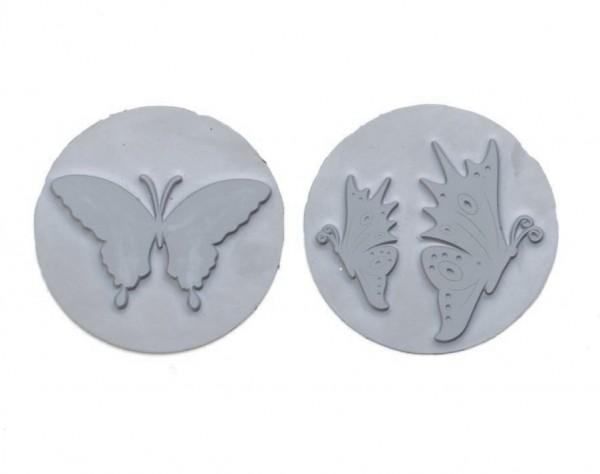 Reliefeinlagen Schmetterlinge für runde Seifengießformen