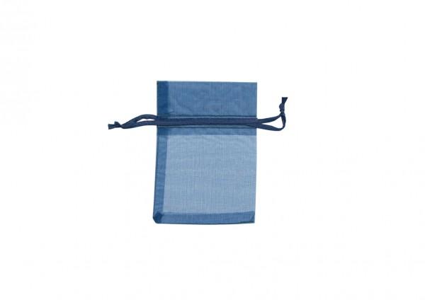 Organzasäckchen dunkelblau XL