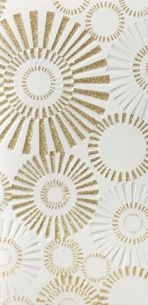 Verzierwachs Spiegel weiß/gold