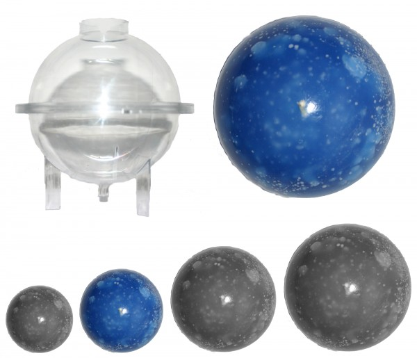 Kugel groß D: 80mm Kerzengießform