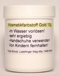 Pulverfarbstoff Gold