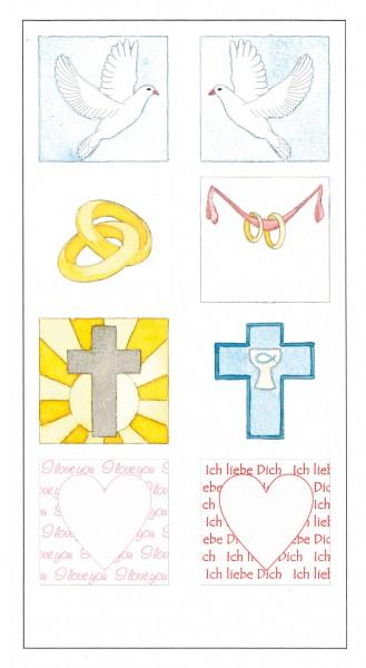8 verschiedene Motive Multi-Transferbilder
