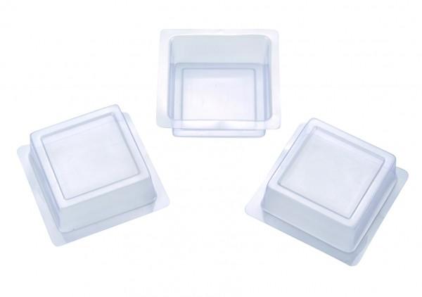 Seifengießform quadrat für Reliefeinlagen