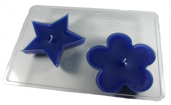 Stern/Rosette Schwimmkerzengießform