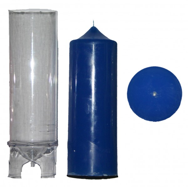 Spitzenkerzenform zyl. D 60mm H 200mm