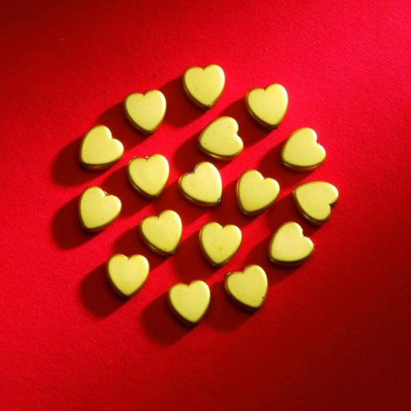 Herzen gold matt 8mm