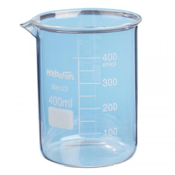 Messbecher / Schmelzbehälter aus Glas 400ml