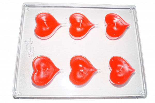 Herzen Schwimmkerzengießform