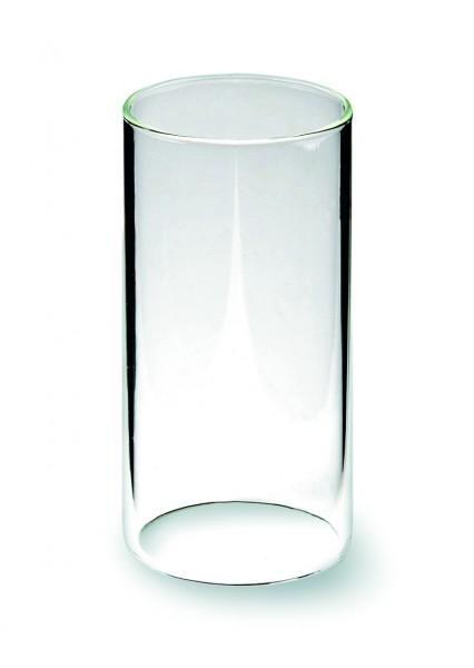 Windlichtglas klar mit Boden