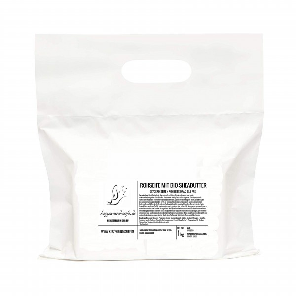 Glycerinseife Rohseife mit BIO-SHEABUTTER 1kg