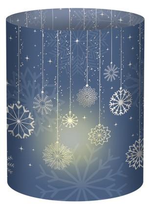 Schneeflocke grau Mini-Tischlicht