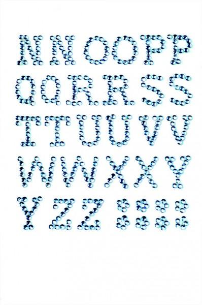 Buchstaben N-Z in hellblau