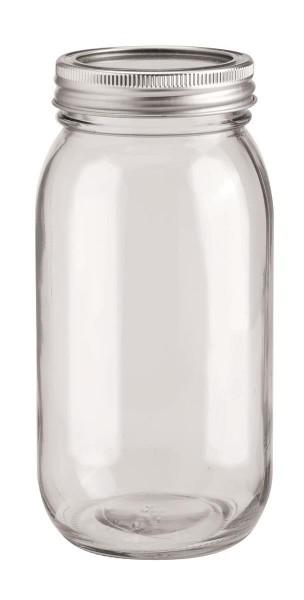 Glas mit 2-tlg Deckel 650 ml