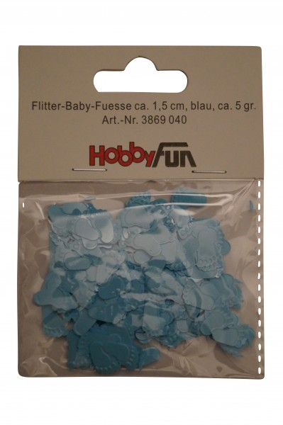 Ballon Flitter-Baby-Füße blau