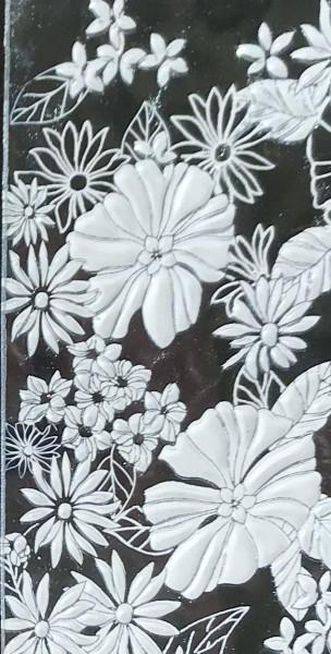 Verzierwachs Bouquet hellblau