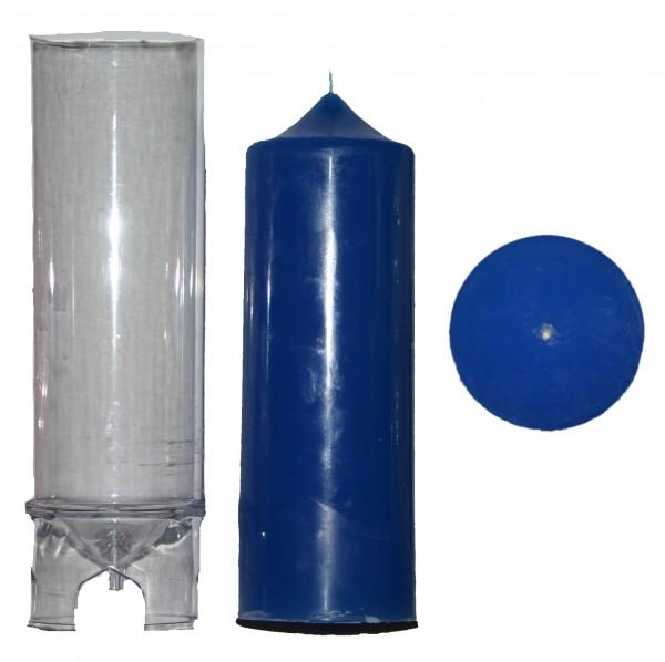Spitzenkerzenform zyl. D 70mm H 185mm