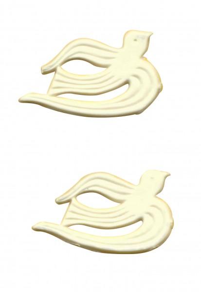 weiße Tauben unbemalt klein
