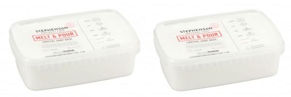 Glycerinseife opak im praktischen Schmelzbehälter 2kg 2x1 kg