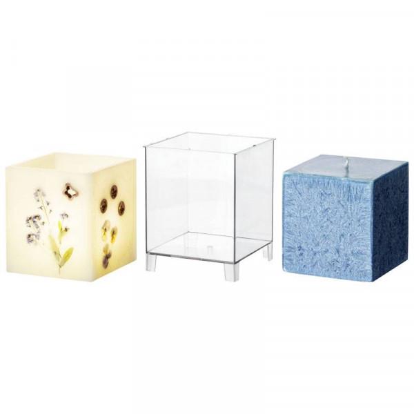 Quadrat/Wachslaterne Kerzengießform