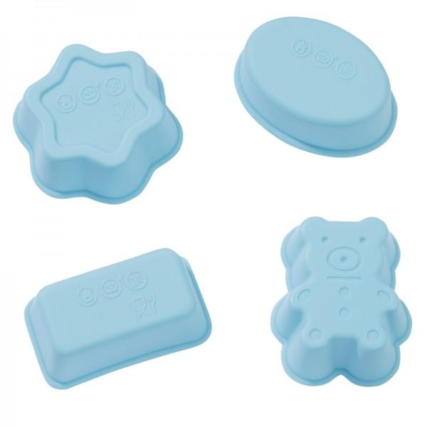 Bär, Kasten, Oval, Rosette mini Seifengießform
