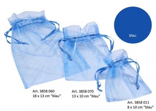 Organza-Säckchen blau L