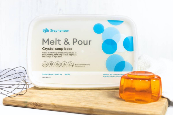 Glycerinseife Crystal Jelly Soap Rohseife 1kg im Schmelzbehälter