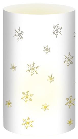 Schneeflocke Weiß Mini-Tischlicht