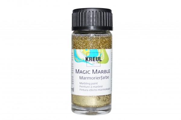 Marmorier-Farbe Glitzer-Gold