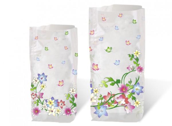 Geschenk-Bodenbeutel Blumenranken klein
