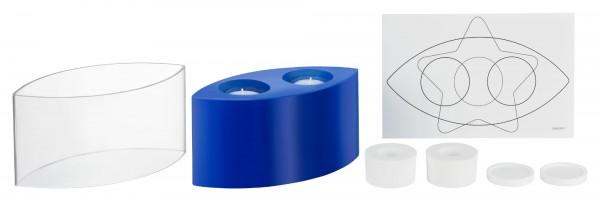 Oval L 198 mm B 94 mm H 100 mm Kerzengießform für Teelichteinsatz