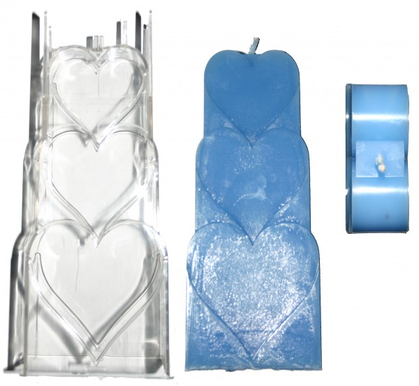 Herzmotiv Kerzengießform