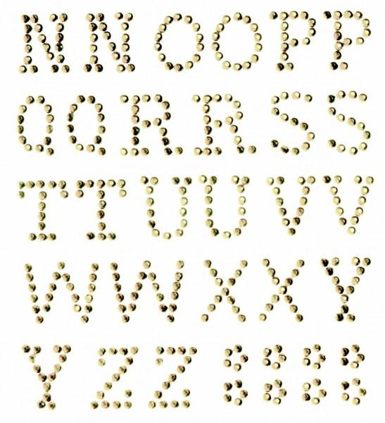 Buchstaben N-Z gold