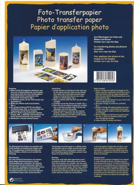Foto-Transferpapier für den Tintenstrahldrucker