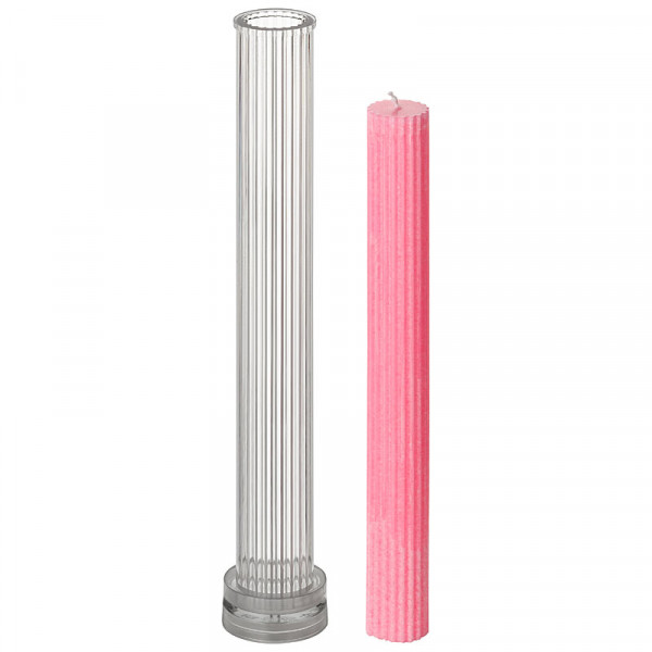 Stabkerzengießform geriffelt 25x255 mm