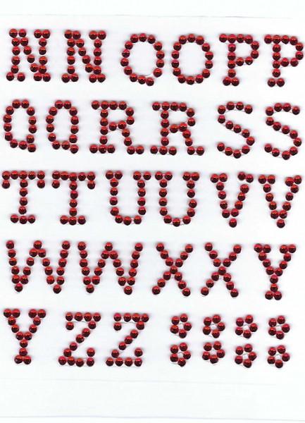 Buchstaben N-Z in rot