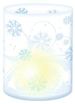 Eiskristalle Mini-Tischlicht