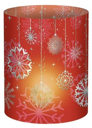 Schneeflocke rot Mini-Tischlicht